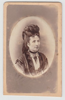 FOTOGRAFIA FORMATO CDV CARTE DE VISITE 6 X 10 DAMA ( NONNA ADELE ) FOTOGRAFO B. RAIMONDI PAVIA - Ancianas (antes De 1900)