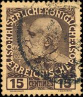 AUTRICHE / AUSTRIA LEVANT / ISSUES FOR CRETE - 1908/14 - MiNr. 19 USED - Scarce - Eastern Austria