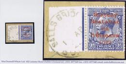 Ireland 1922 Dollard Rialtas Red Ovpt 2½d First Day Of Issue On Piece BALLS BRIDGE DUBLIN 1 AP 22 - 1922 Governo Provvisorio