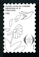 Tuberculose Antituberculeux - TRES RARE Grand Timbre De 1983  NOIR Sans Valeur. - Antituberculeux