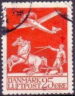 Denemarken 1925-29 25öre Luchtpost GB-USED - Usati