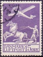 Denemarken 1925-29 15öre Luchtpost GB-USED - Usati