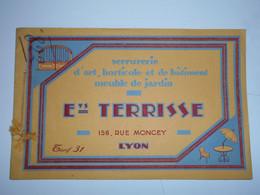 Lyon, Entreprise Terrisse, Ferronnerie, Serrurerie D Art, Tarif, Livret De 13 Pages   (bon Etat) - France
