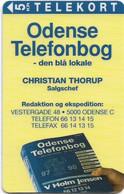 Denmark - Tele Danmark (Magnetic) - Odense Telefonbog - Christian Thorup - TDP066A - 5Kr, 07.1996, 600ex, Used - Dänemark