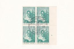 1327 Bloc De 4 Bord Numéroté école De Philatélie Charleroi - Belgium