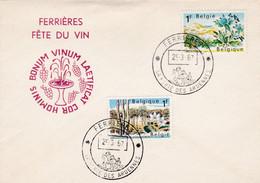 Enveloppe 1408 1409 Ferrière Fête Du Vin - Belgium