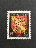 FRANCE E N° 756 Armoirie E.V.G 157 Indice 4 Perforé Perforés Perfins Perfin Superbe !! - Perforadas