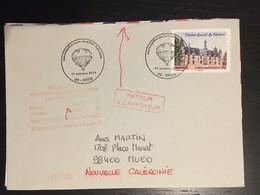 Sens 2013 Une Montgolfière Ballon Boite Mobile Cachet Verso Atterrissage - Commemorative Postmarks