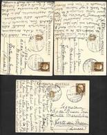 5 CARTOLINE POSTALI CON ANNULLO ROMA SENATO VG. 1936 N°272 - Postwaardestukken