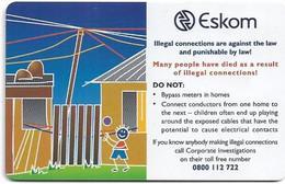 S. Africa - MTN - Eskom, Dangers Of Electricity - Eskom #4, 2003, SC8, 15R, 100.000ex, Used - South Africa