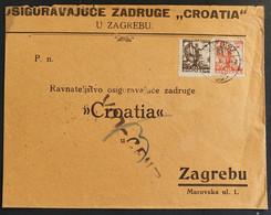 Jugoslawien 1921, Brief MiF ZAGREB - Brieven En Documenten