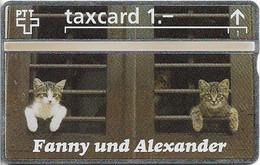 Switzerland - Swisscom (L&G) - K Series - K-92/244 - Fanny Und Alexander Cats - 211L - 11.1992, 1Fr, 10.000ex, Mint - Schweiz