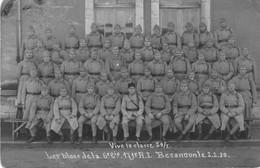"""BESANCON. Carte-photo Avec Légende. """"Les Bleus De La 6e Cie, 171e RI Classe 29/1. 2-2-1930. - Besancon"""
