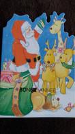 CPM DOUBLE NOEL PERE NOEL JOUETS RENNES CHEIN BONNE ANNEE DECOUPEE - Santa Claus
