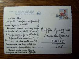 France - Oblitération De Fortune - Annulation Linéaire De CROIX NORD  (59) -  Sur CPSM - Manual Postmarks
