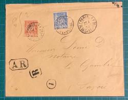 Seine - PARIS - N°94 + 101 Cad T84 PARIS 1F - 1900 - Lettre Recommandé AR - - Zonder Classificatie