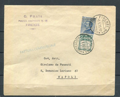 REGNO 1924 PUBBLICITARIO 25 COEN SU BUSTA VIAGGIATA - Poststempel