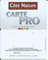 CARTE Professionnelle - CÔTE NATURE - CARTE PRO - Gift Cards