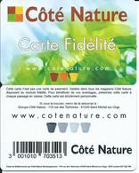 CARTE CÔTE NATURE - FIDELITE - - - Gift Cards