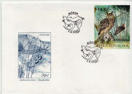 Czechia Stamp On FDC - Gufi E Civette