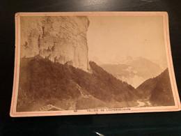 Photo Vers 1880 Suisse Valle De Lauterbrunnen      / Photo Suisse Savoie À.Garcin Genève - Antiche (ante 1900)