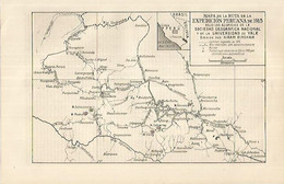 LAMINA ESPASA 18088: Mapa De La Expedicion De Peru En 1915 - Non Classificati