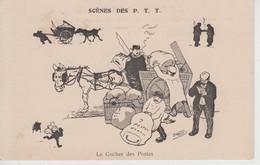 CPA Scènes Des P.T.T. - Illustrateur Morer - Le Cocher Des Postes - Poste & Postini