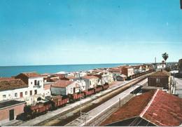 (CS) CARIATI, SCALO FERROVIARIO - Cartolina Nuova, Treni, Retro Danneggiato - Altre Città