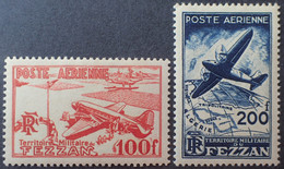 DF50500/1171 - 1948 - TERRITOIRE MILITAIRE DE FEZZAN - POSTE AERIENNE - N°4 à 5 NEUFS* - Cote (2020) : 17,00 € - Nuovi