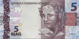 Brazil 5 Reais (P253e) 2010 Sign 46 -UNC- - Brasile