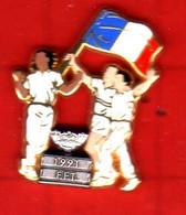 Pin's Roland Garros FFT 1991  Zamac Arthus Bertrand - Arthus Bertrand