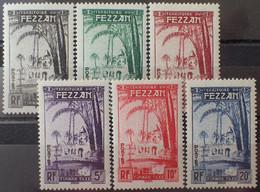 DF50500/1172 - 1950 - TERRITOIRE MILITAIRE DE FEZZAN - TIMBRES TAXE - N°6 à 11 NEUFS* - Cote (2020) : 19,20 € - Nuovi