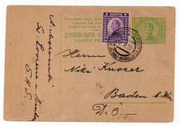1922 KINGDOM SHS,SLOVENIA,CARINTHIA,GRABŠTANJ-MARIBOR TPO 82,AUSTRIA,GRAFENSTEIN,STATIONERY CARD,USED - Interi Postali