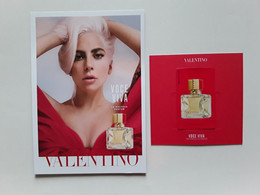 "VALENTINO    "" VOCE  VIVA    "" 2 Cartes :  1 Postale  + 1 Petite Avec Patch ** 2 Scans - Modern (from 1961)"