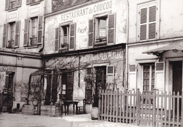 Paris 1900 Restaurant Du Coucou (carte Vierge) - Otros