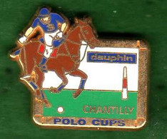 Pin's  Polo Cups Chantilly Affichage Dauphin Zamac Arthus Bertrand - Arthus Bertrand