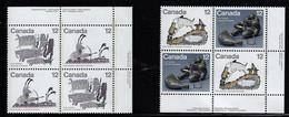CANADA 1977 SCOTT 748-751 MNH PLATE BLOCKS  CAT VALUE US $4.50.jpg - Ongebruikt