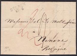DÜLKEN L2 1841 Nach NINOVE BELGIEN Mit Inhalt Taxiert  (27339 - Pruisen