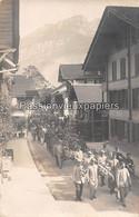 FOTOKARTE BRIENZ  1916  HAUPTSTRASSE 52   OBSEQUES Du SOLDAT SAUVAGEON Régis  (BEERDIGUNG) - BE Berne
