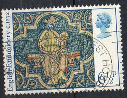 GRANDE BRETAGNE N° 813 O Y&T 1976 NOEL Tapisserie Médiévale - 1952-.... (Elisabetta II)