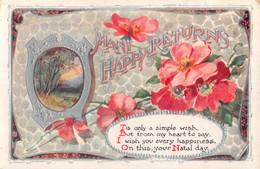 R457135 Many Happy Returns. Flowers. Inter Art. Birthday Series. II. No. 147 - Monde