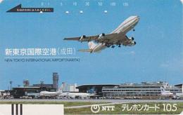 TC Ancienne JAPON / NTT 250-041 - AVION & Aéroport - PLANE & Narita Airport JAPAN Front Bar Phonecard - FLUGZEUG - Japon