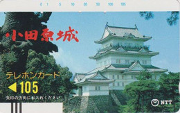 TC Ancienne JAPON / NTT 250-046 - Paysage Religion PAGODE - CASTLE TEMPLE JAPAN Front Bar Phonecard - Balken TK SCHLoss - Japon
