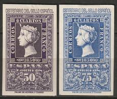 Spain 1950 Sc 776-7 Ed 1075-6 MH Some Disturbed Gum - 1931-50 Ungebraucht