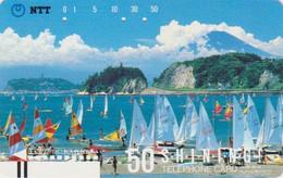 TC Ancienne JAPON / NTT 250-064 - Sport - SURF VOILE - SURFING JAPAN Front Bar Phonecard - Balken TK - Japon