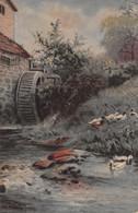 R458633 House. River. Ducks. Inter Art. Rembrandt Coloured Gravure Series. No. 5054. Val Norman - Monde