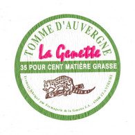 TOMME D'AUVERGNE - La Genette Fabriqué Par La Fromagerie De La Genette ST-ANTHEME - Cheese