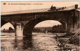6ED 1O8 CPA - SAINT AMAND MONTROND - LES DEUX PONTS - Saint-Amand-Montrond