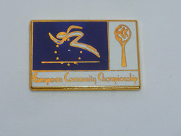 Pin's OLYMPIQUE, EUROPEAN COMMUNITY CHAMPIONSHIP, ANVERS 1991 - Olympische Spelen