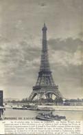 PARIS HISTOIRE DE L'AVIATION Le 18 Octobre 1909 Le Comte De Lambert Sur La Tour Eiffel 1 Recto Verso - Altri